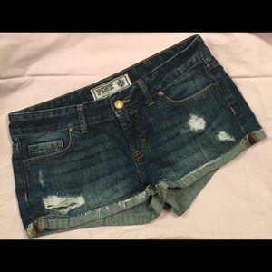 PINK Victoria's Secret Distressed Denim Shorts